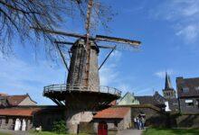 طاحونة هوائية منذ القرن ال14 ومازالت تعمل حتى الآن بشمال الراين